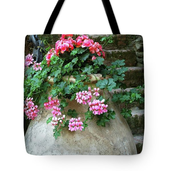 Tote Bag featuring the photograph Flower Pot 8 by Allen Beatty