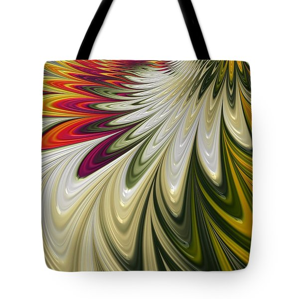 Tote Bag featuring the digital art Flower Power by Gabriella Weninger - David