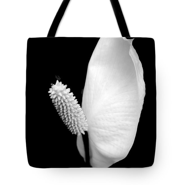 Flower Power Peace Lily Tote Bag