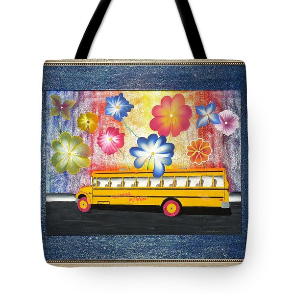 Flower Power Tote Bag by Ron Davidson