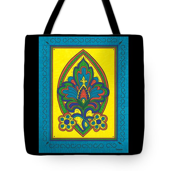 Tote Bag featuring the painting Flower Power Talavera Style by Susie Weber
