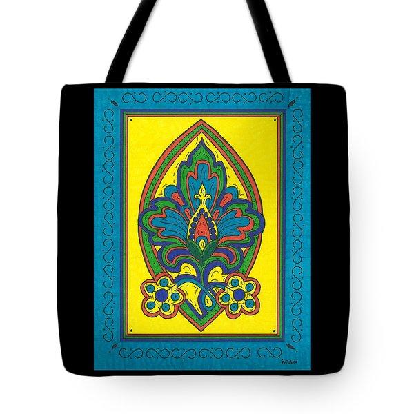 Flower Power Talavera Style Tote Bag