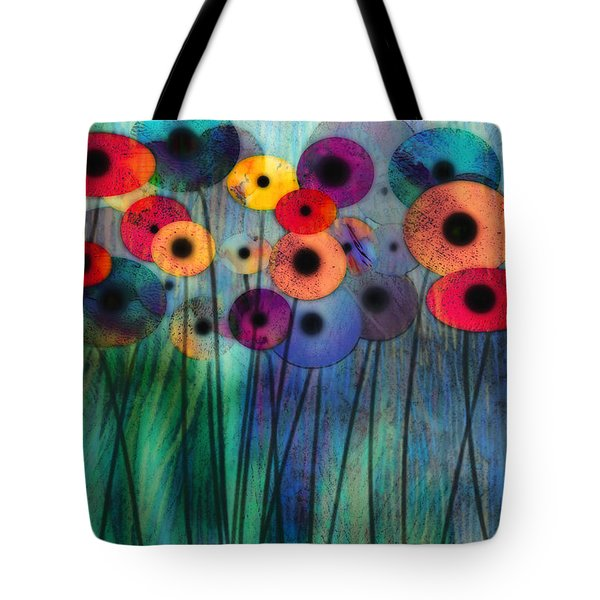 Flower Power Three Tote Bag