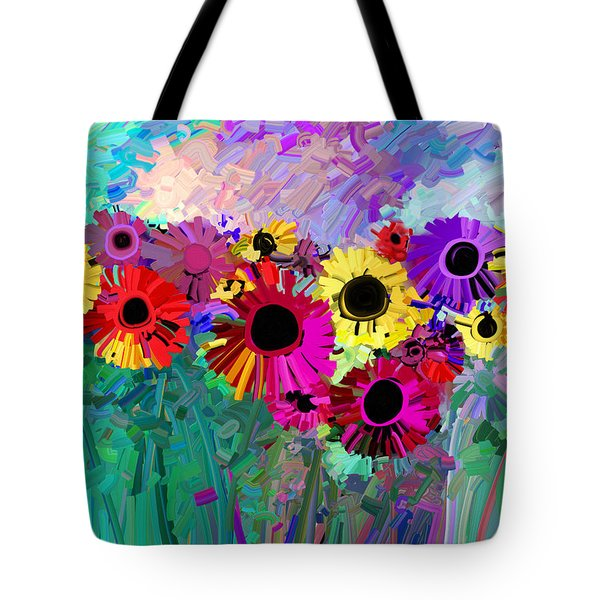 Flower Power Two Tote Bag