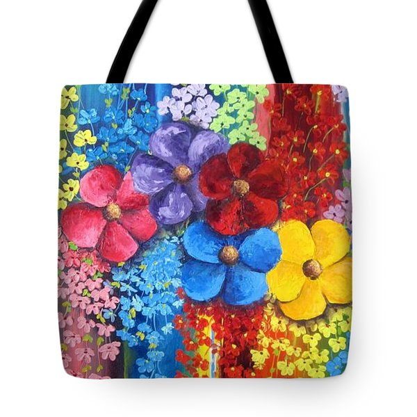 Flower Shower Tote Bag
