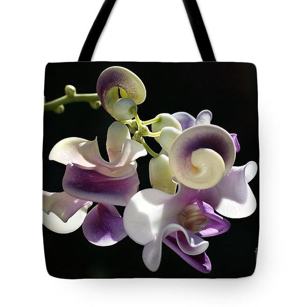 Flower-snail Flower Tote Bag by Joy Watson