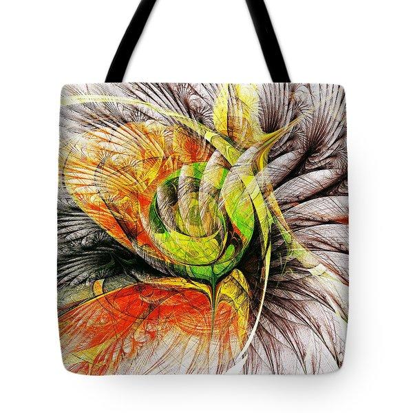 Flower Spirit Tote Bag by Anastasiya Malakhova