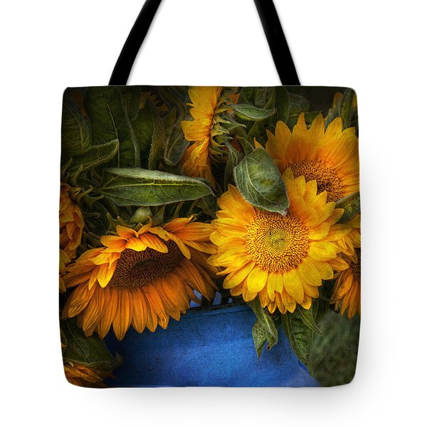 Flower - Sunflower - The Suns Have Risen  Tote Bag by Mike Savad