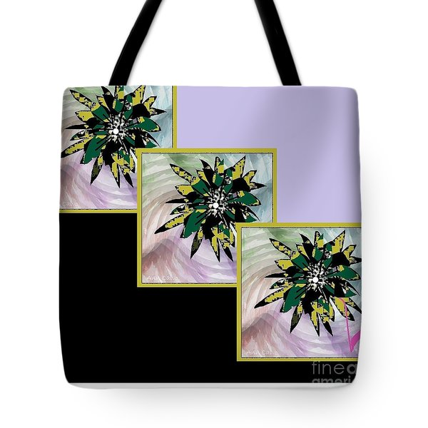 Tote Bag featuring the digital art Flower Time by Ann Calvo
