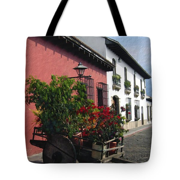 Flower Wagon Antigua Guatemala Tote Bag