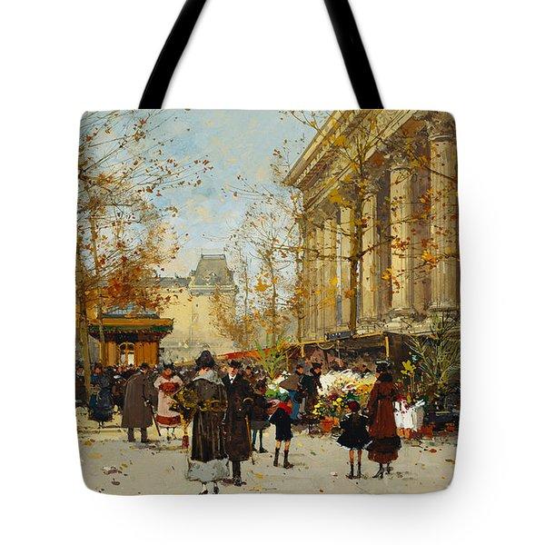 Flower Walk Tote Bag by Eugene Galien-Laloue