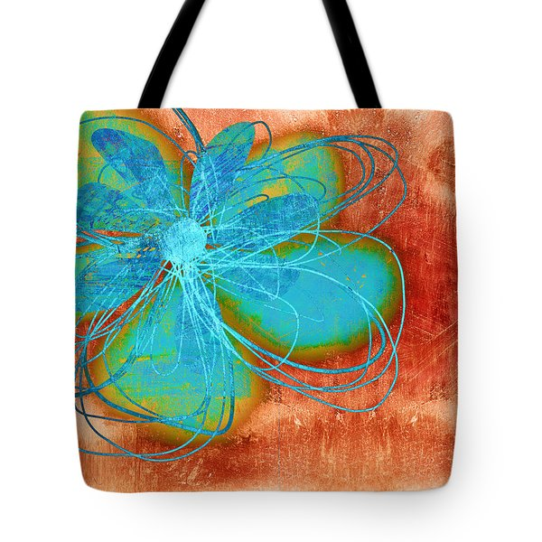 Flower  Whimsy In Blue Tote Bag by Ann Powell