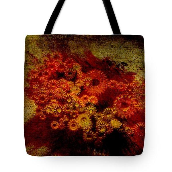 Flower Works Tote Bag by Fran Riley