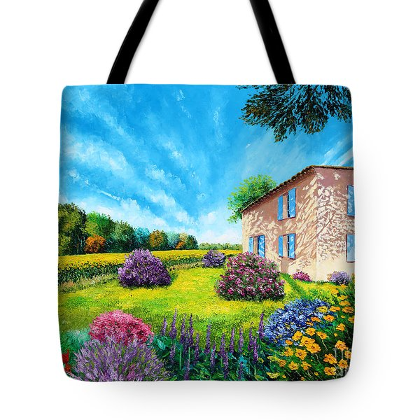 Flowered Garden Tote Bag by MGL Meiklejohn Graphics Licensing
