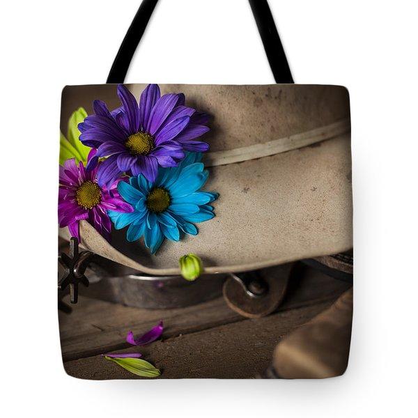 Flowered Hat Tote Bag