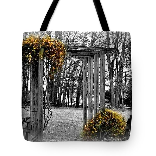 Tote Bag featuring the photograph Flowering Archway by Tara Potts