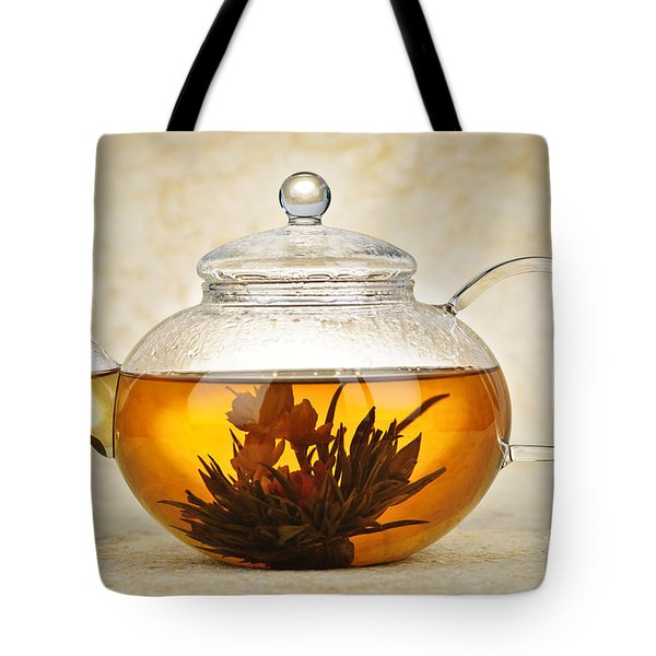 Flowering Blooming Tea Tote Bag