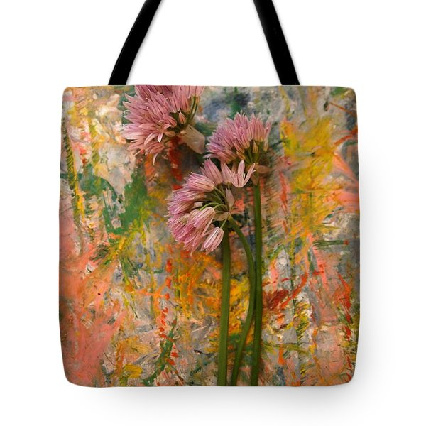 Flowering Garlic Tote Bag