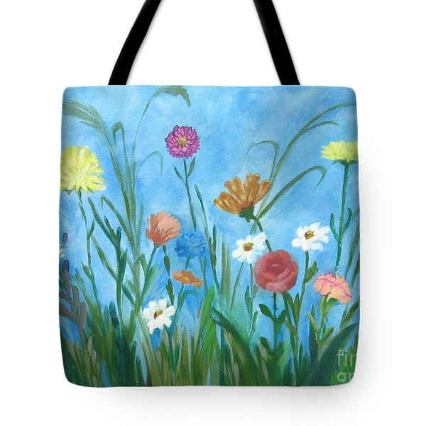 Flowers All Around Tote Bag