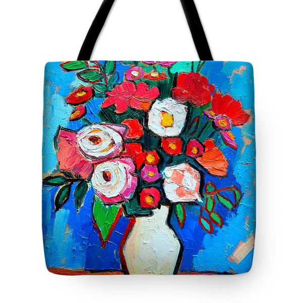 Flowers And Colors Tote Bag