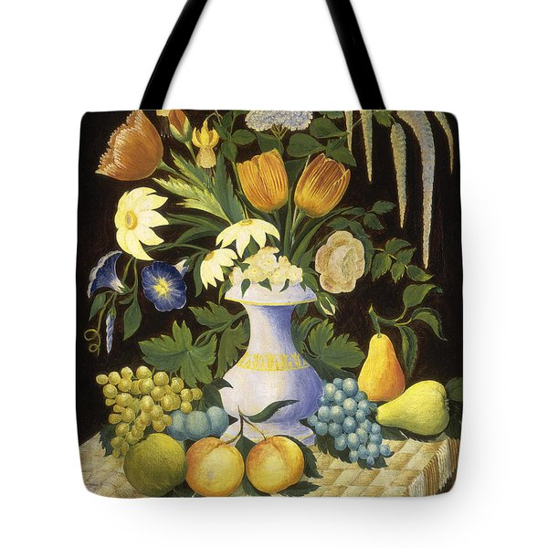 Flowers And Fruit Tote Bag by Celestial Images