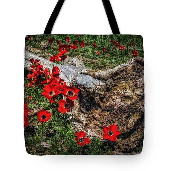 Flowers And Monster Tote Bag