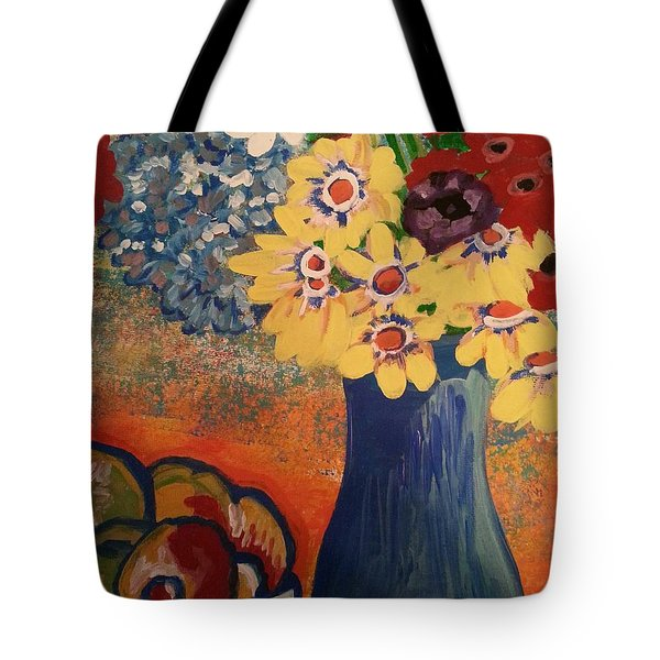 Flowers And Oranges Tote Bag