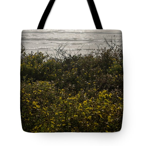 Flowers And The Sea Tote Bag