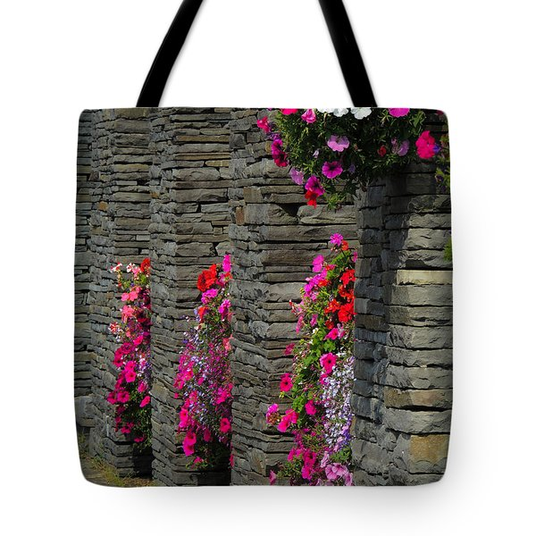 Flowers At Liscannor Rock Shop Tote Bag