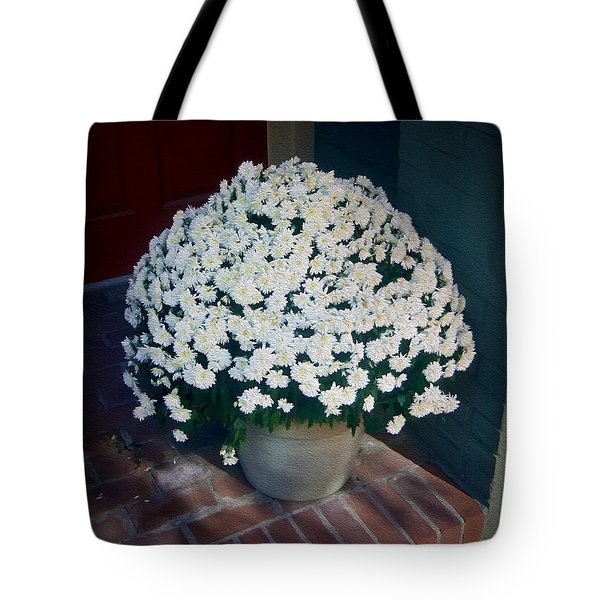 Flowers At The Door Tote Bag by Brian Wallace