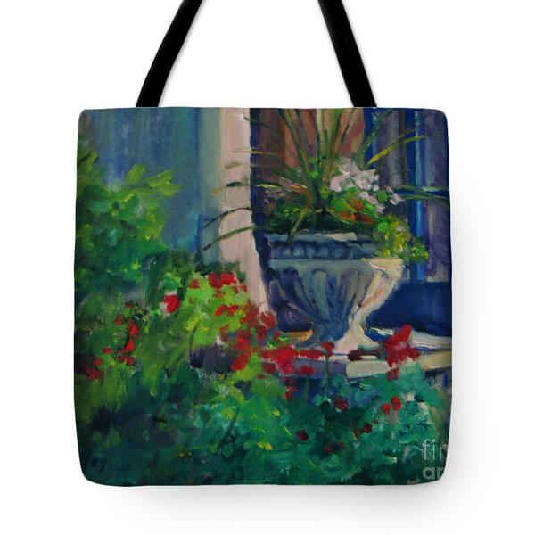 Flowers At The Museum's Entrance Tote Bag