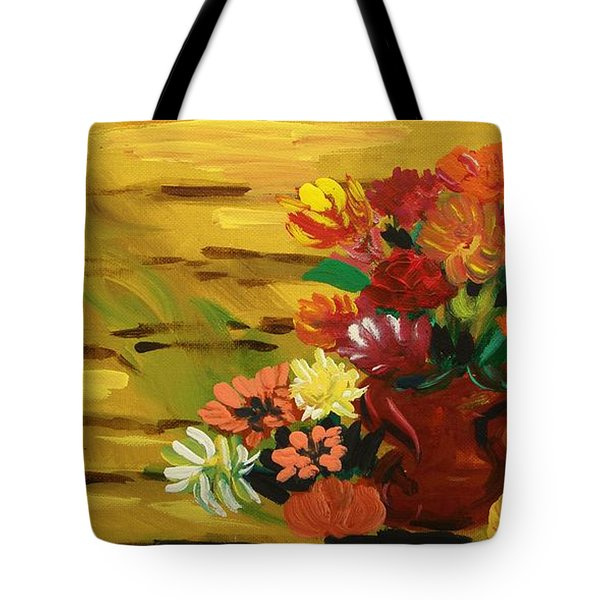 Flowers At The Side Of The House Tote Bag by Mary Carol Williams