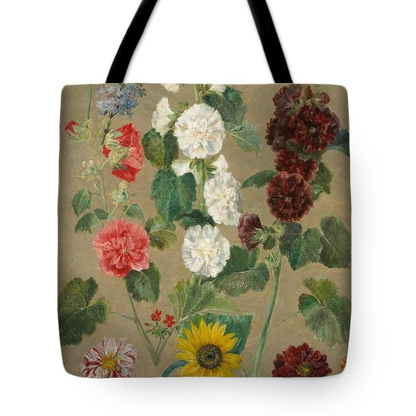 Flowers Tote Bag by Ferdinand Victor Eugene Delacroix