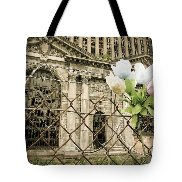 Flowers For Detroit Tote Bag
