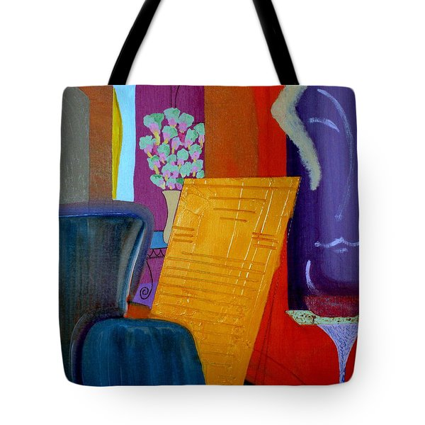 Tote Bag featuring the painting Flowers For Matisse by Bill OConnor