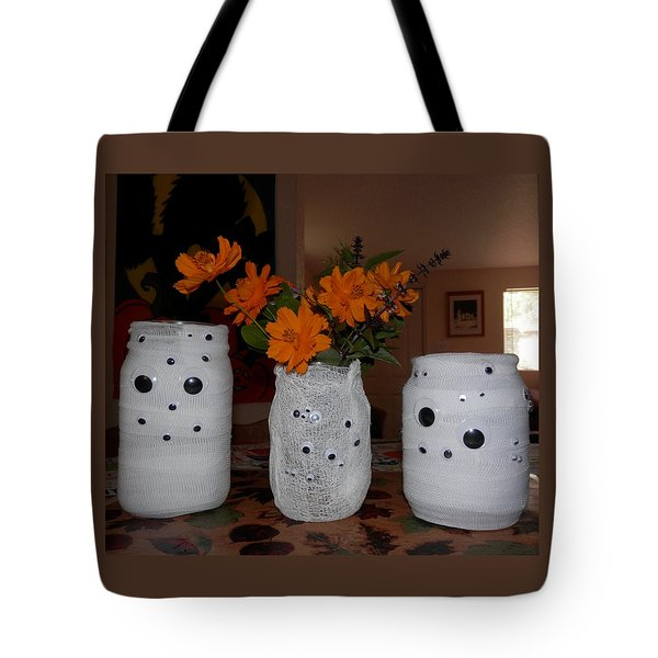 Halloween Flowers For Mummy Tote Bag