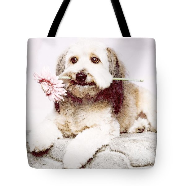 Flowers For My Best Friend. Tote Bag by VRL Art