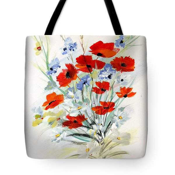 Tote Bag featuring the painting Flowers For You by Dorothy Maier