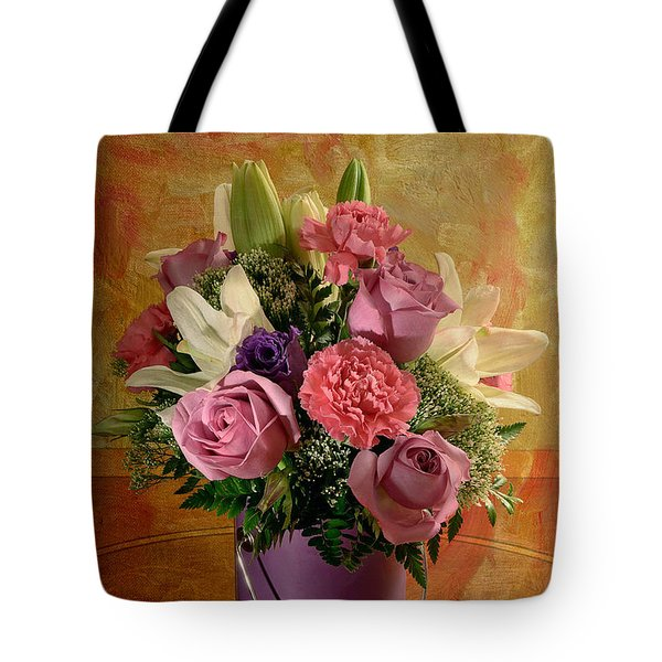 Flowers From A Friend Tote Bag by Lois Bryan