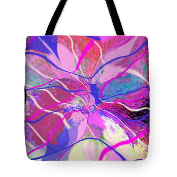 Original Contemporary Abstract Art Flowers From Heaven Tote Bag