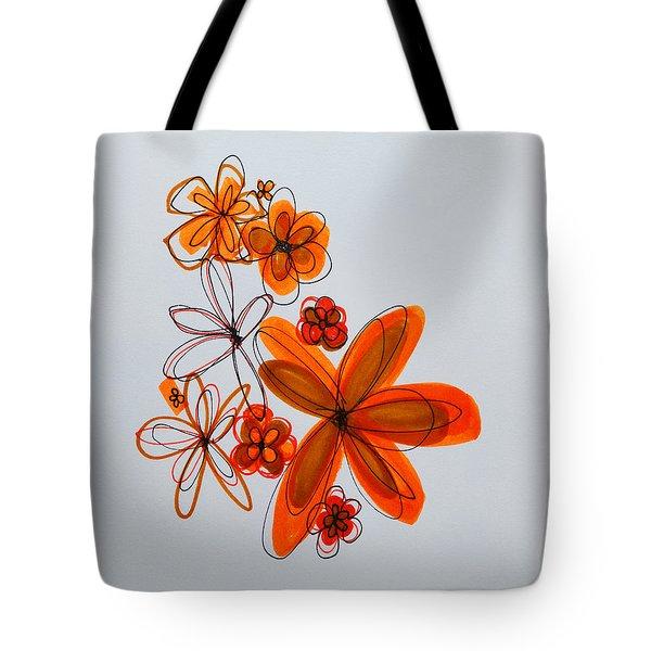 Flowers IIII Tote Bag by Patricia Awapara