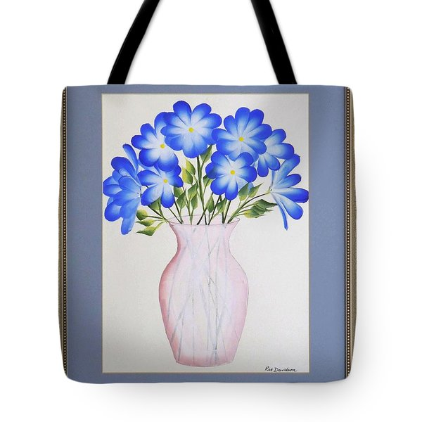 Flowers In A Vase Tote Bag by Ron Davidson