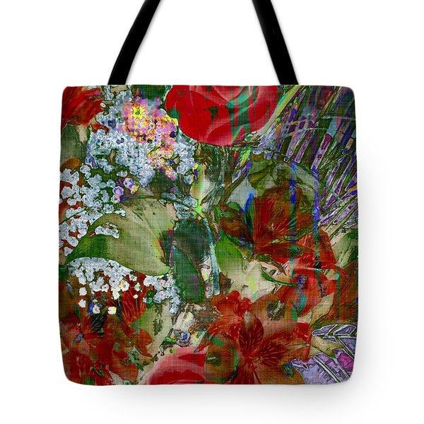 Tote Bag featuring the digital art Flowers In Bloom by Liane Wright