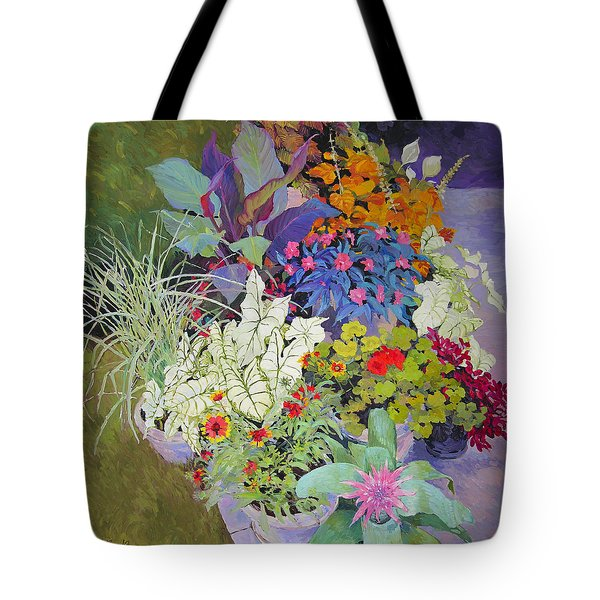 Flowers In The Courtyard Tote Bag