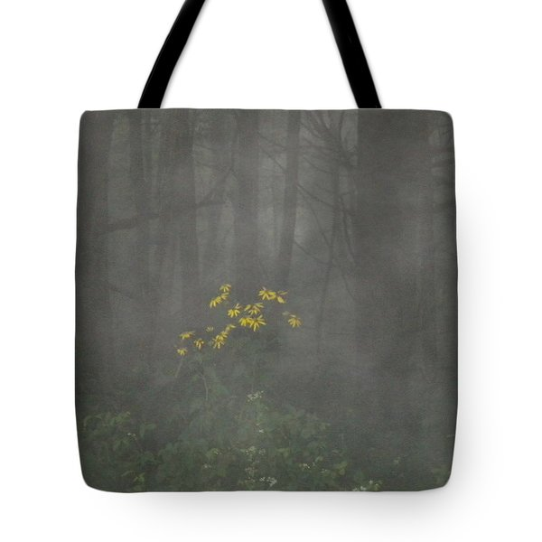 Tote Bag featuring the photograph Flowers In The Fog by Diannah Lynch