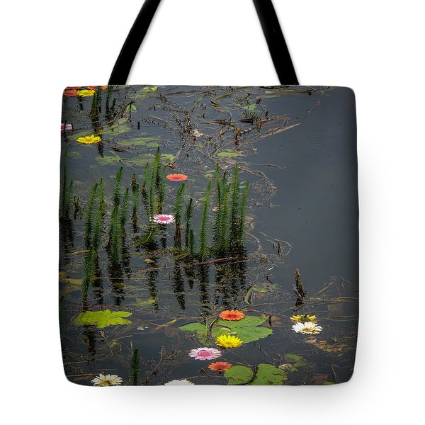 Flowers In The Markree Castle Moat Tote Bag