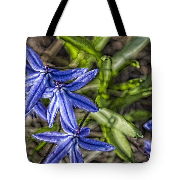 Flowers In The Yard Tote Bag by Daniel Sheldon