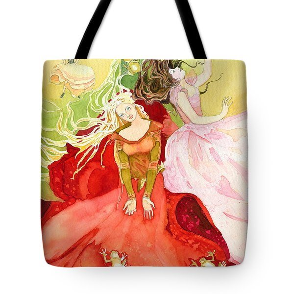 Flowers In Water Tote Bag