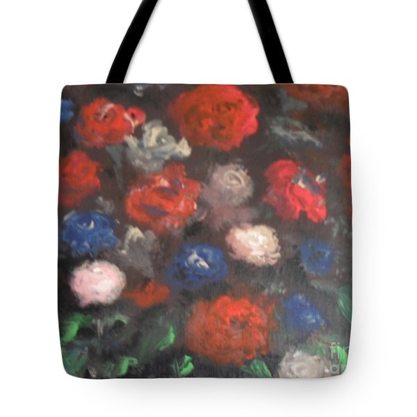 American Floral Tote Bag by Laurie L