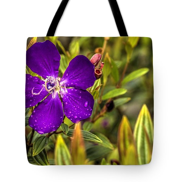 Flowers Love Water Tote Bag